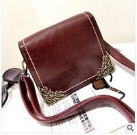 Women's handbag trend PU vintage bag rhino skin fashion carved casual bag messenger bag Free shipping Hot sell