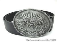 Brand new Whiskey Jack Daniels Old No. 7 Metal Fashion Belt Buckle with Free belt,3.8cm width JD001