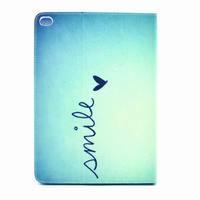 Latest universal design original print Small fresh Smile for iPad 2/3/4 ipad 5 6 air 2 Blue Flip leather case alibaba express