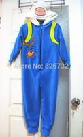 free shipping adventure time jake boy's long sleeve romper Pajamas ,children's coral velvet blanket Sleepers(7-14yrds)