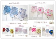 Free shipping pc/lot 100% cotton baby clothing girls baby bibs towel bandanas chiscarf ldren cravat infant towel(China (Mainland))