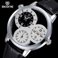 2015 Real Women Relogios Femininos Women Watches New Fashion Brand Skone Watch 3 Quartz Dial Analog Wristwatch Free Shipping