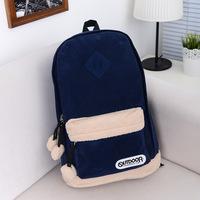 Men's Women backpack Solid mochila kippling feminina Suede travel bag school bags for teenagers masculina mochilas laptop