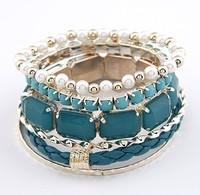 New Bohemia style beads Bracelet Jewelry leather multilayer charm bracelets for women wholesale