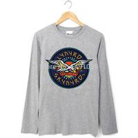 rock fashion Lynyrd Skynyrd eagle logo long sleeves tee shirt
