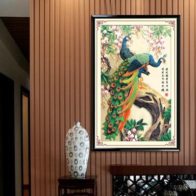 Diy 5D алмазная вышивка картины горный хрусталь вставить 3D алмаз ящик для инструментов любовь к животным павлин в гостиной декор
