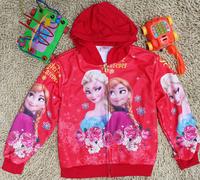 in stock, 1pcs/1lot children clothing Frozen girls coat cute baby clothing jacket cotton coat, autumn wear Free shipping