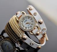 2014 New Arrive Women' Fashion Watches Leather Strap Watch Woman Dress Watch Antique Bracelet Wristwatch