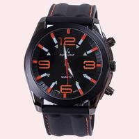 2015 Top Fashion Watches Hot Sale Vogue V6 Strips Hour Marks Tonneau Dial Quartz Hours Analog Watch Men Wristwatches Dropship
