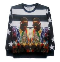 New 2015 men/women 3D sweatshirts America hip hop rock star Biggie Smalls character printed pullover hoodies sudaderas