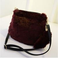 Hot sale fashion Fur girl handbag Messenger small bag shuolder bags-Free Shipping