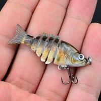 "1pc New 6 Sections Fishing Lure 0.085oz-2.41g/5.58cm-2.2"" Swimbait Fishing bait 6# Black Hook Fishing Tackle Free Shipping"