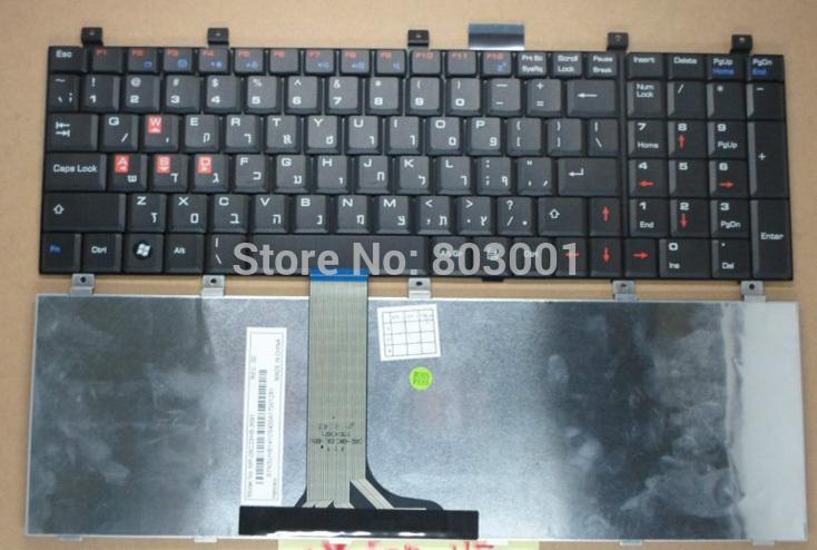 QWERTY Hot sale laptop computer keyboard for MSI MS-163P VX600 GX610 EX700 UK-HB UK- Hebrew(China (Mainland))