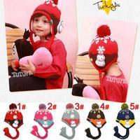 2014 new winter hat for boys and girls plus velvet ear Snowman children wool hat cap