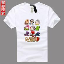 Суперячеек столкновение кланы кок варвар король свиней райдер арчер дракон мастер 100% хлопок свободного покроя футболка майка модный дизайн(China (Mainland))