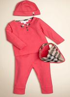 Good quality !  New 2015 Brand Baby Boys Girls Clothing set T shirt + Pants + hat + Bib Autumn Infant Casual baby Clothes set