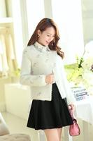 Free shipping 2014 explosion models Hitz Korean Women upscale authentic cherry mink cashmere short coat
