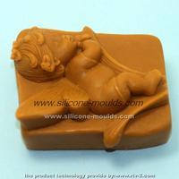 1Pcs sleep angel baby silicone soap mold Cake decoration tool 1003