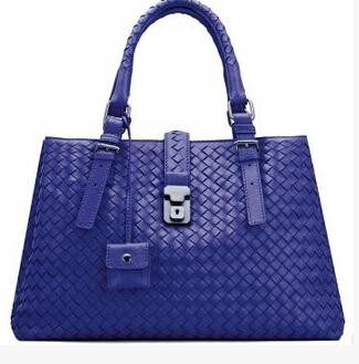 2014 new European style lamb leather hand bag hand woven bag handbag(China (Mainland))