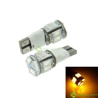 T10 149 168 W5W LED 2-Mode Yellow  5W 11X5630SMD 400-550LM for Car Signal Light (20PCS/DC12-16V)