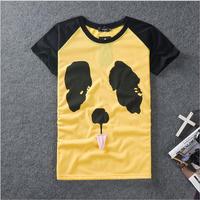 DQ-63 Plus size S-5XL Yellow dog Funny t shirts Fashion Casual Short sleeve t shirt men brand Hip hop Clothing Rock Sport