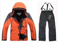 Brand Winter Windproof Waterproof Ski Jacket +Pants Outdoor Hiking Sport Suit