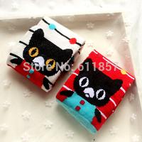 12pairs=24pcs children socks glue cartoon stripe small cat kid's cotton socks