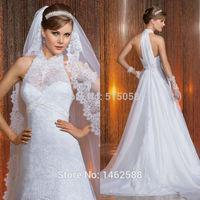 Halter Top Open Back White Lace Wedding Dress Sexy 2015 Bridal Gowns On Sale Vestido Novias Renda