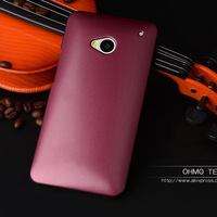 For HTC One M7 Glossy Hard Case Ultra thin Anti-skid Spray Painting Plastic Cover For HTC ONE M7 801E  Phone Cases