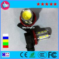 2 x white High Power LED H11 Bulb Fog Light Lamp Daytime Running Light Low Beam White led drl H8 H9 H11 FOG LAMP BULB COB foggy