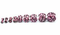 2pcs  Free Shippment U Choose 9 sizes Purple Lepoard  Ear Plugs Ear Flesh Tunnels Sets Earlets 4-18mm