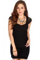 Free shipping 2014 Newest Women Summer Black Lace Tight Sexy Fashion Dress Mini dress Party Dresses Cute Slim Hip Dresses