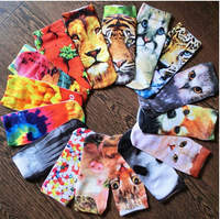 2015 Animal Print Socks Casual Cute Character Candy Colors Socks Unisex More than 3 double a discount of fifty percent.
