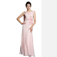 Fashion Long Evening Dresses Pink Silk Embroidered Dress Party Evening Elegant Formal Dress Evening Gowns Vestidos Evening Dress