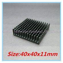 (2pcs/lot) 100% new 40x40x11mm Aluminum heatsink Extruded black  radiator heat sink for Electronic heat dissipation (China (Mainland))