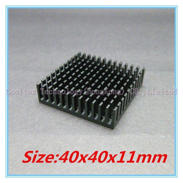 (2pcs/lot) 100% new 40x40x11mm Aluminum heatsink Extruded black radiator heat sink for Electronic heat dissipation(China (Mainland))