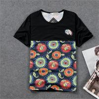 DQ-48 2014 summer Short sleeve Harajuku Hip hop Men's shirts Vintage t-shirt Fashion  men's t shirts Swag clothes