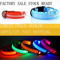 new arrival Glow Cat Dog Pet Flashing Light Up Safety Collar Luminous LED Pet Collar Light 6 Colors Choice free shipping