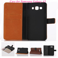 Luxury Retro Crazy Horse Stlye PU Leather Wallet Stand Card Holder Case Flip Cover For For Samsung Galaxy A5