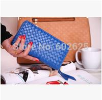 2014 Korean version classic retro fashion lovers long section female models knit zipper wallet