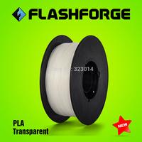 Flashforge 3D printer PLA Transparent  colour  filaments,diameter 1.75mm,for Creator series.