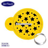 round cookie spray design,stars, spray-cutting powder sieve fondant cake mold,HMC028J08