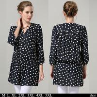 Plus Size Clothing Print Women Shirt Tunics Blouse Blusa #SN1201