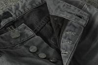 Jack Jeans for men buttom placket cheap designer cliothing men's PLUS SIZE washed original brand jeans pants solid color quality
