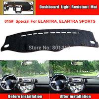 car Dashboard Cover Mat  for HYUNDAI ELANTRA Outback sun block mat New Material Fireproof Polyester Fiber