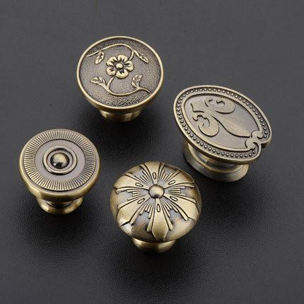 Upscale European antique cabinet drawer wardrobe door handle style bronze metal doorknob handle(China (Mainland))