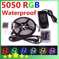 Free Shipping  5050 RGB LED Flexible Strip 300LEDs 5050 SMD + 24Key Remote Controller RGB Led Strip Light