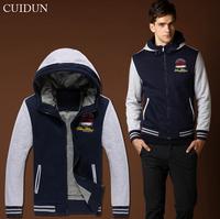 Winter Warm  Printing Men's  Sweatshirts Sports Hooded Sweaters Jacket Casual Coats Y0608