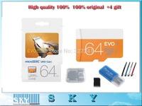 2014 New 100% Original 48MB/S USH-1  16GB 32GB 64GB Class 10 Memory Micro SD Card Plus Adapter Card Reader Stylus Pen