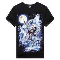 New 2014  Fashion Greek Mythology Herdsman 3d T-Shirt Five Size M-XXXL 100% Cotton Casual T-Shirt Men  E12 Free Shipping